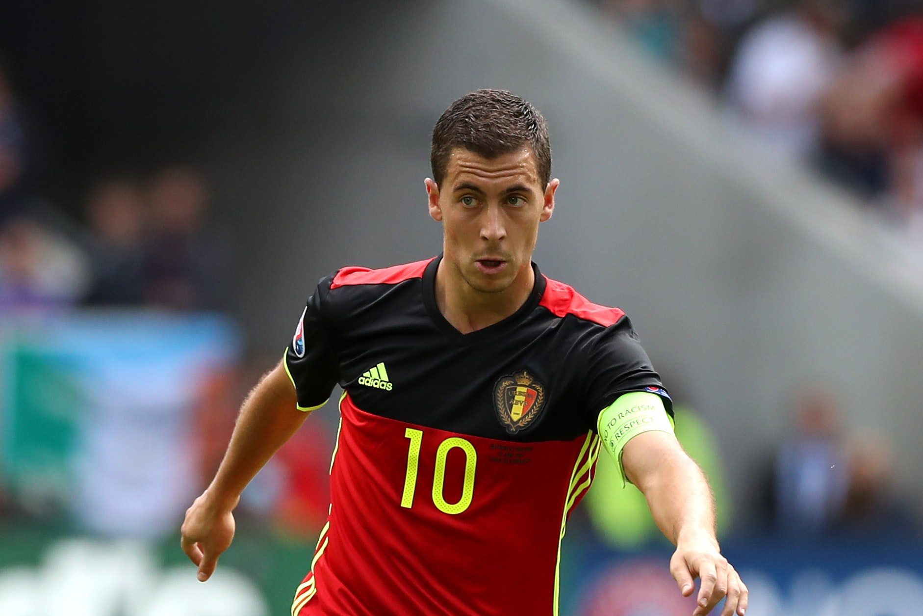 Eden Hazard limped off during Belgium's win over Costa Rica