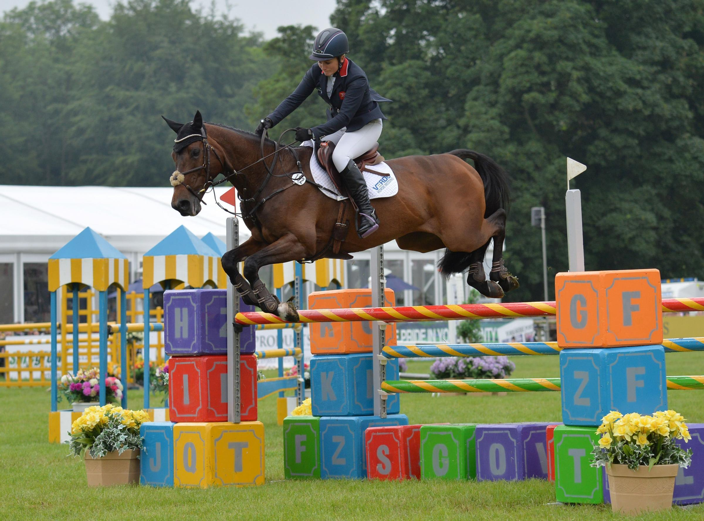 Gemma Tattersall riding Chico Bella P in action during day four of the Bramham Horse trials at Bramham Park. Picture: Anna Gowthorpe/PA Wire