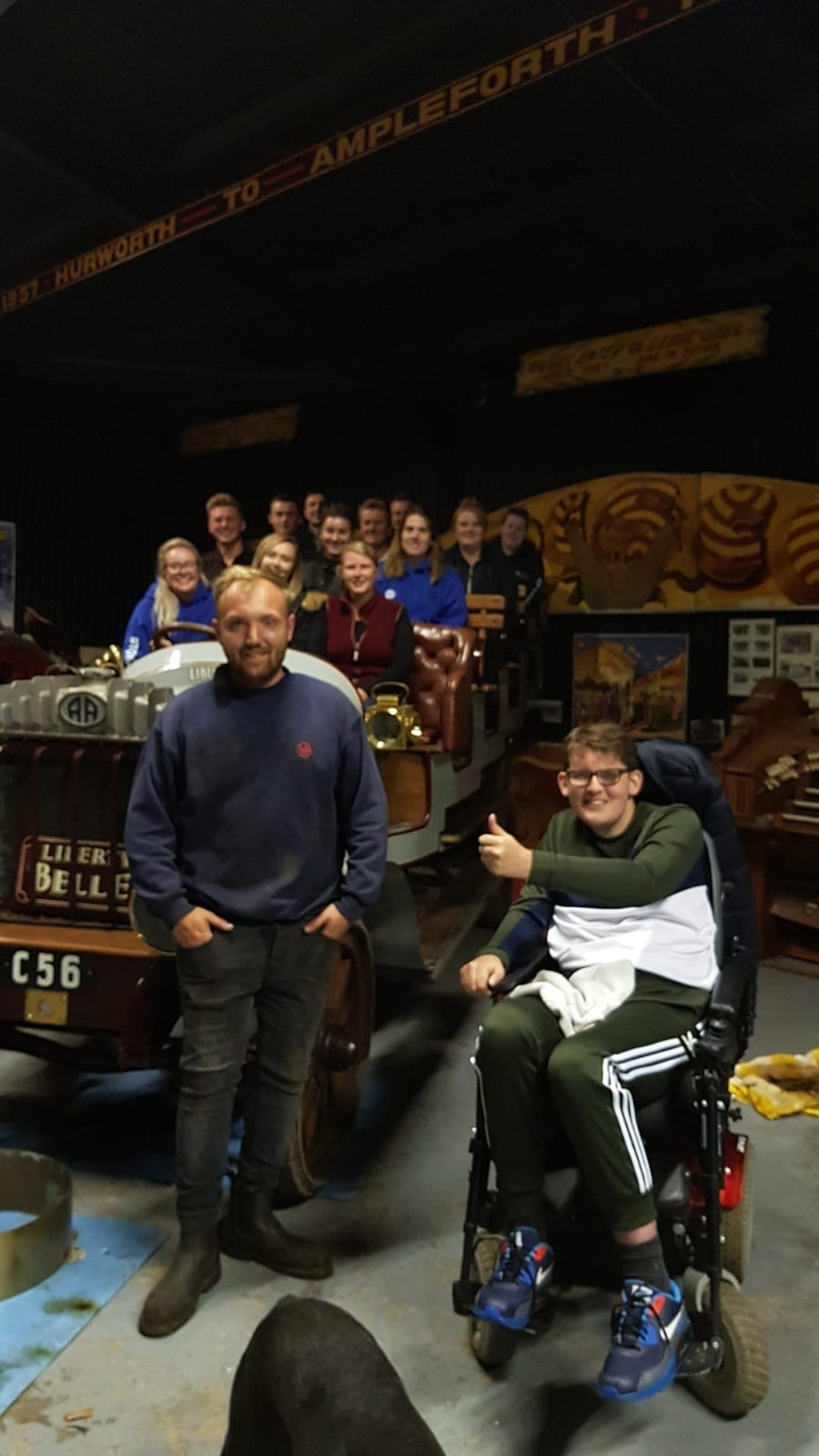 Stokesley YFC members enjoy a tour around the late Richard Preston's vintage steam collection, presented by his grandson, Jamie