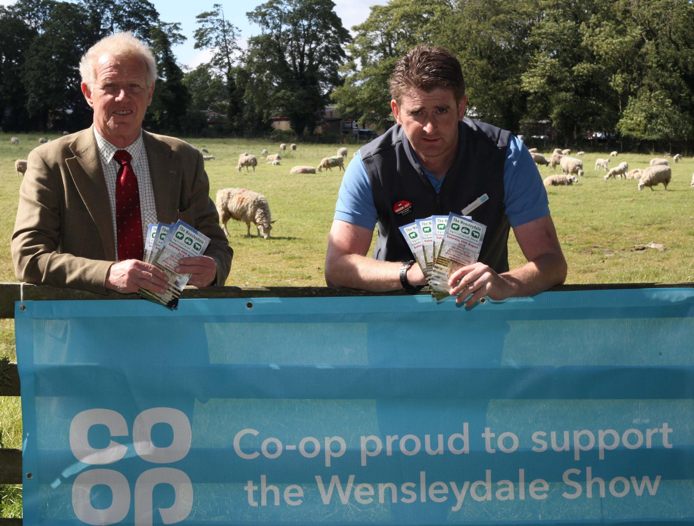 Mike Warden Chairman of the Wensleydale Show with Jonathan Barker Manger of the Leyburn Cooperative branch