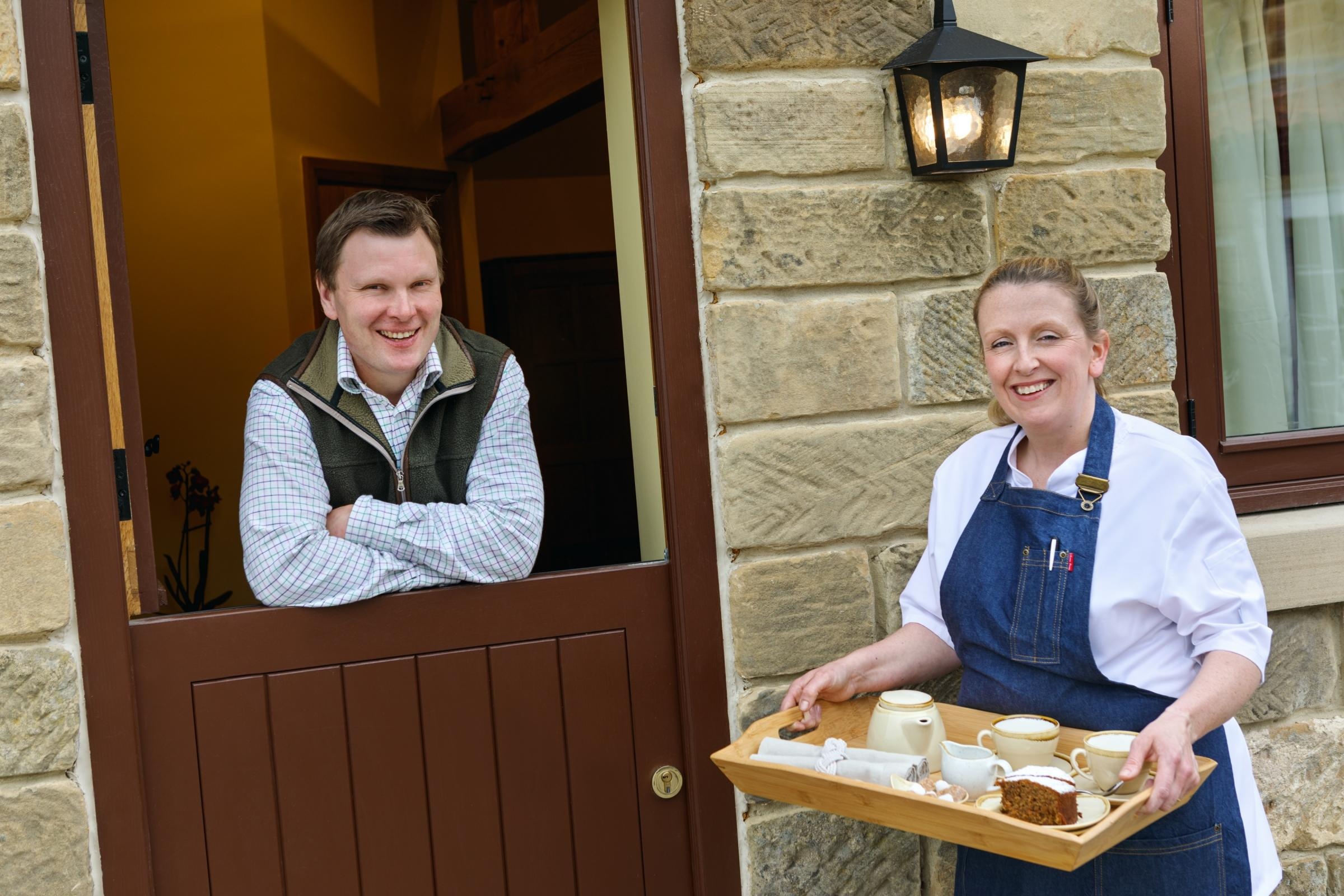 Paul and Amy Callin, of Woodlands Farm, Thimbleby, Northallerton, are in the finals of Tastiest Breakfast in the 2018 Eviivo Awards