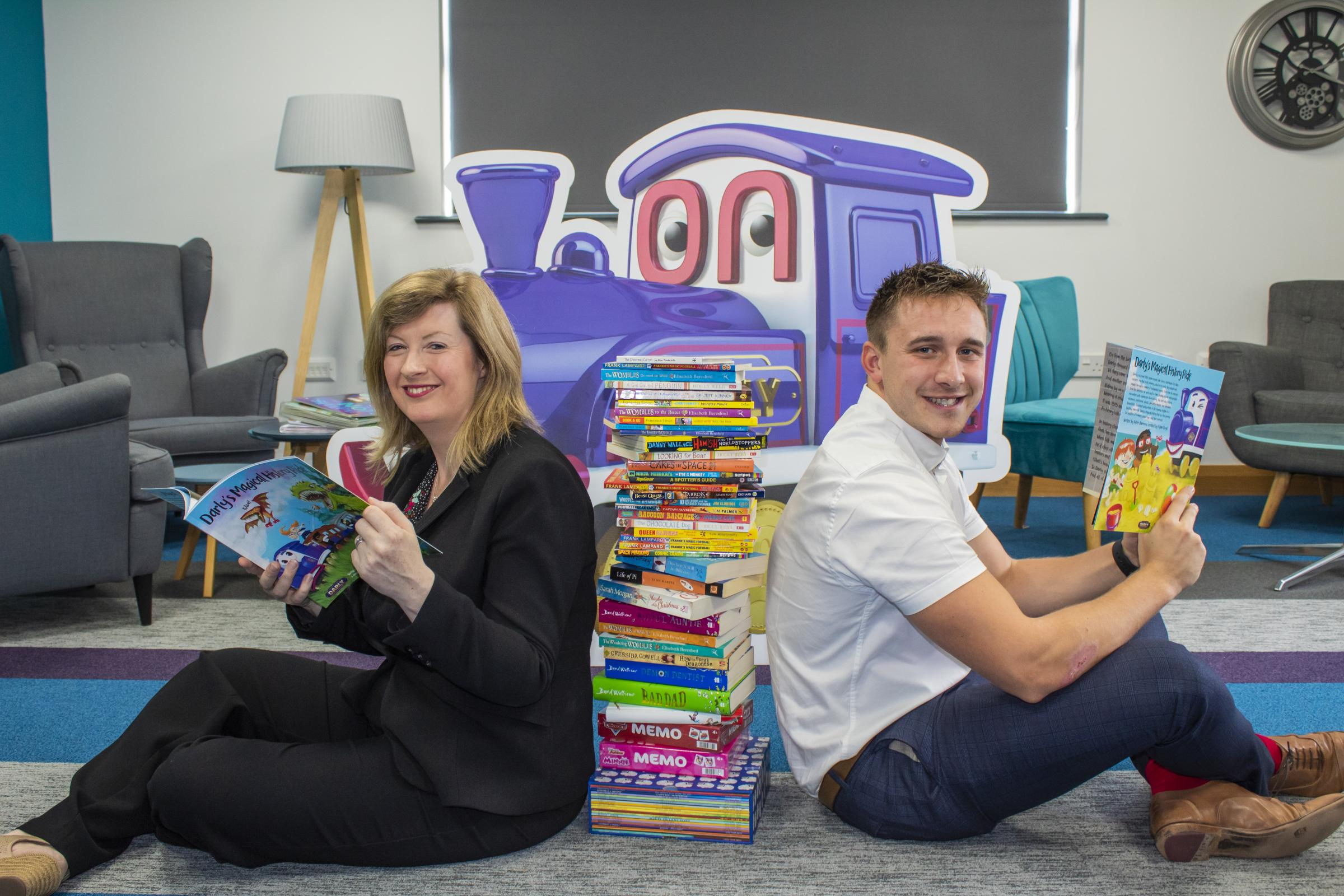Caroline Darnbrook, left, Darlington Building Society's Director of Products and Marketing, and Josh Palin, Brand and Customer Insight Officer, launch the story-writing competition