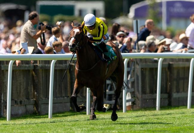 File photo dated 13-07-2018 of Pretty Pollyanna ridden by Silvestre De Souza. PRESS ASSOCIATION Photo. Issue date: Wednesday October 3, 2018. See PA story Pretty Pollyanna is set to run in the bet365 Fillies' Mile at Newmarket on Friday week in a bid