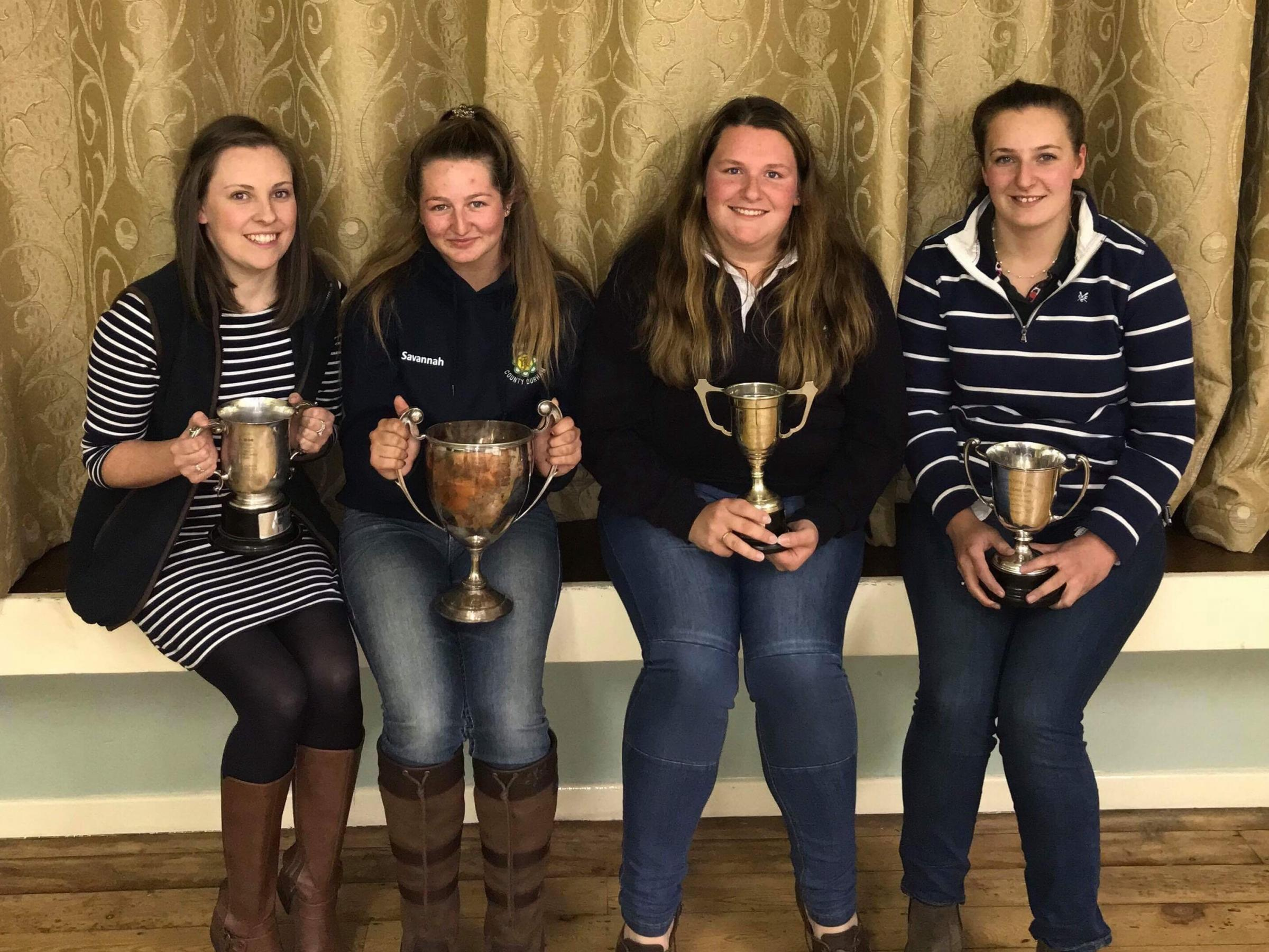 Elwick YFC members receiving club trophies at the 85th AGM