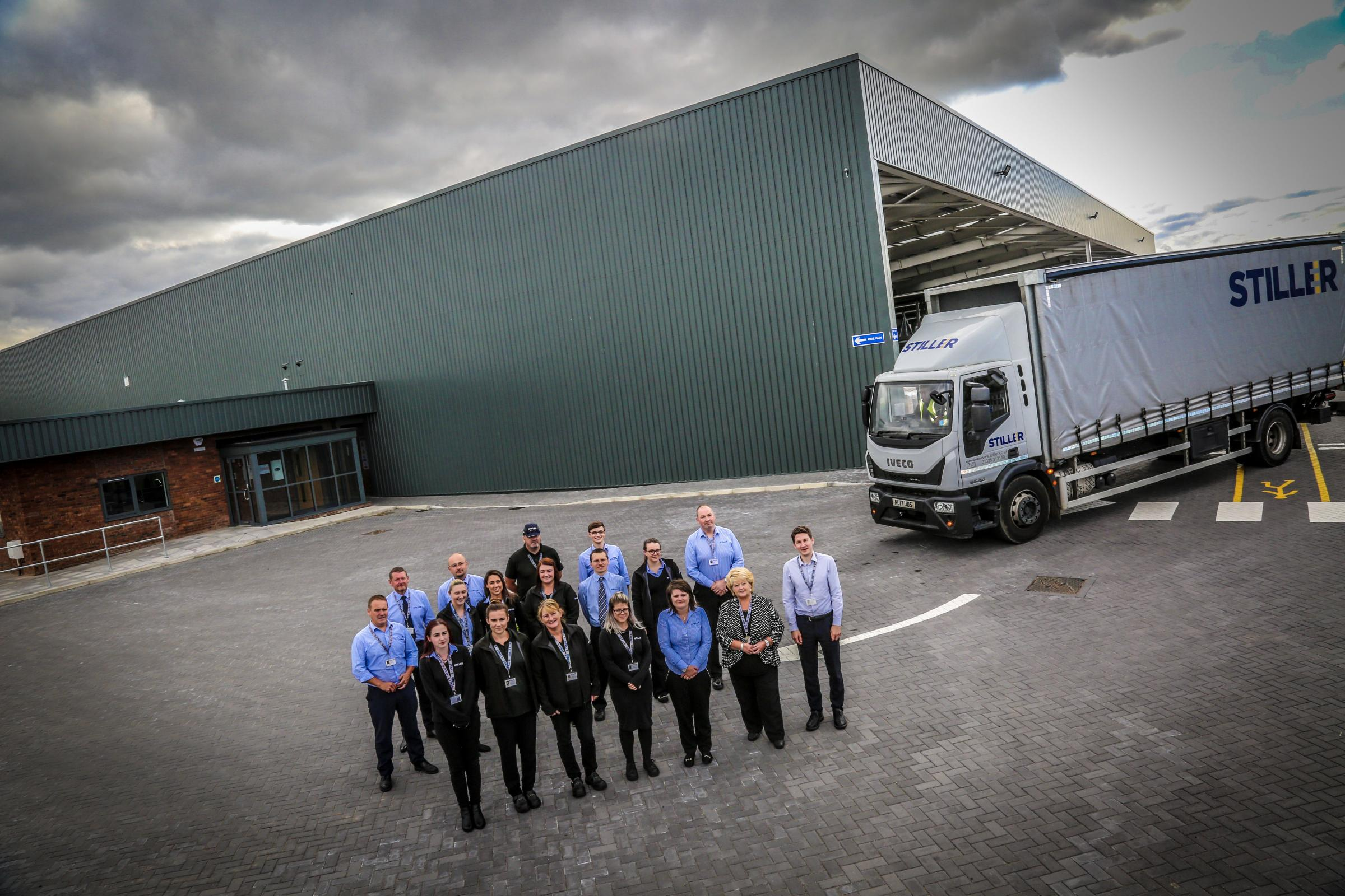 INVESTMENT: Stiller Warehousing and Distribution staff outside the new facilitiy
