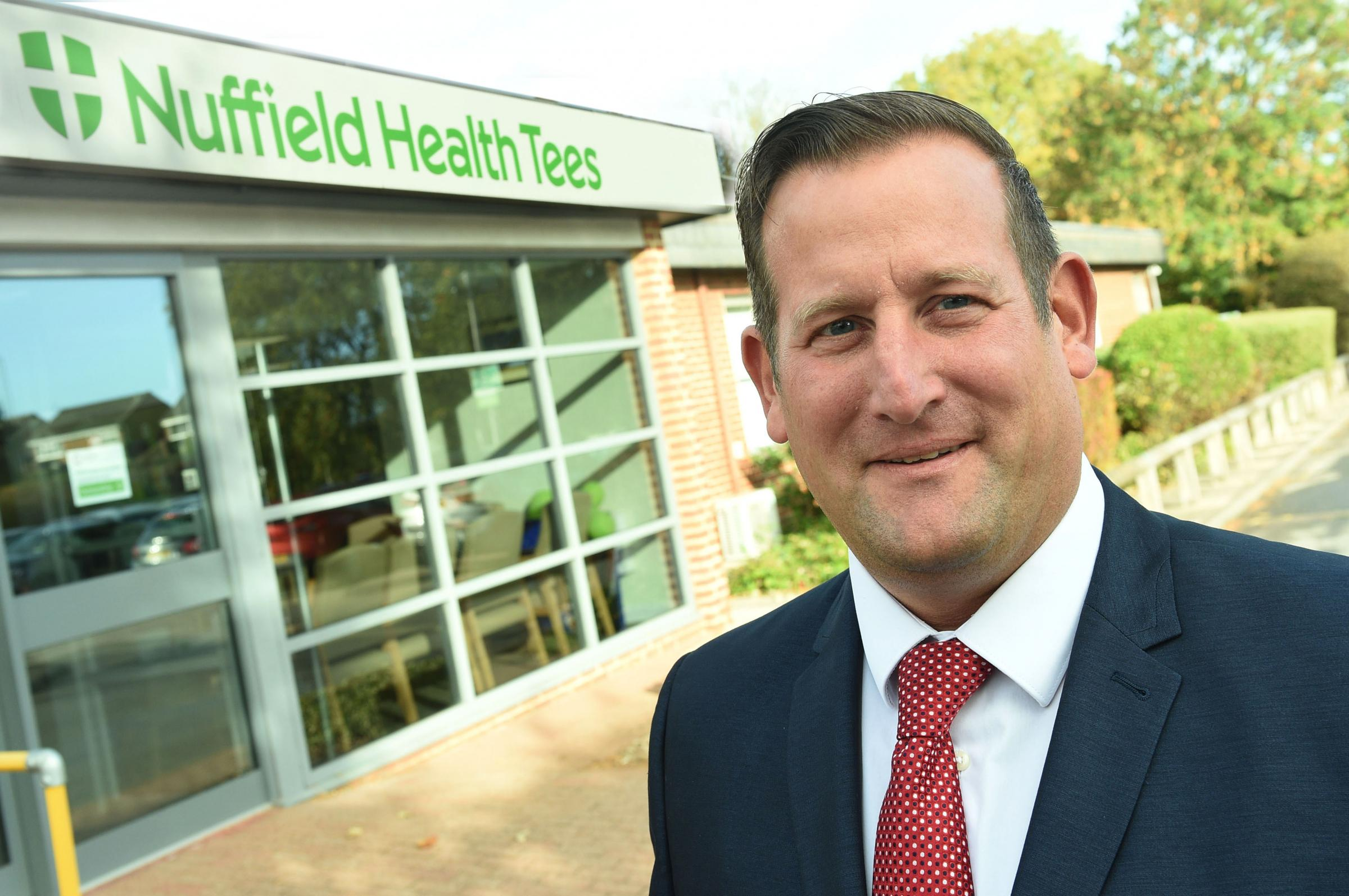Mark Throw - business development manager at Nuffield Health Tees HospitalPic Doug Moody Photography