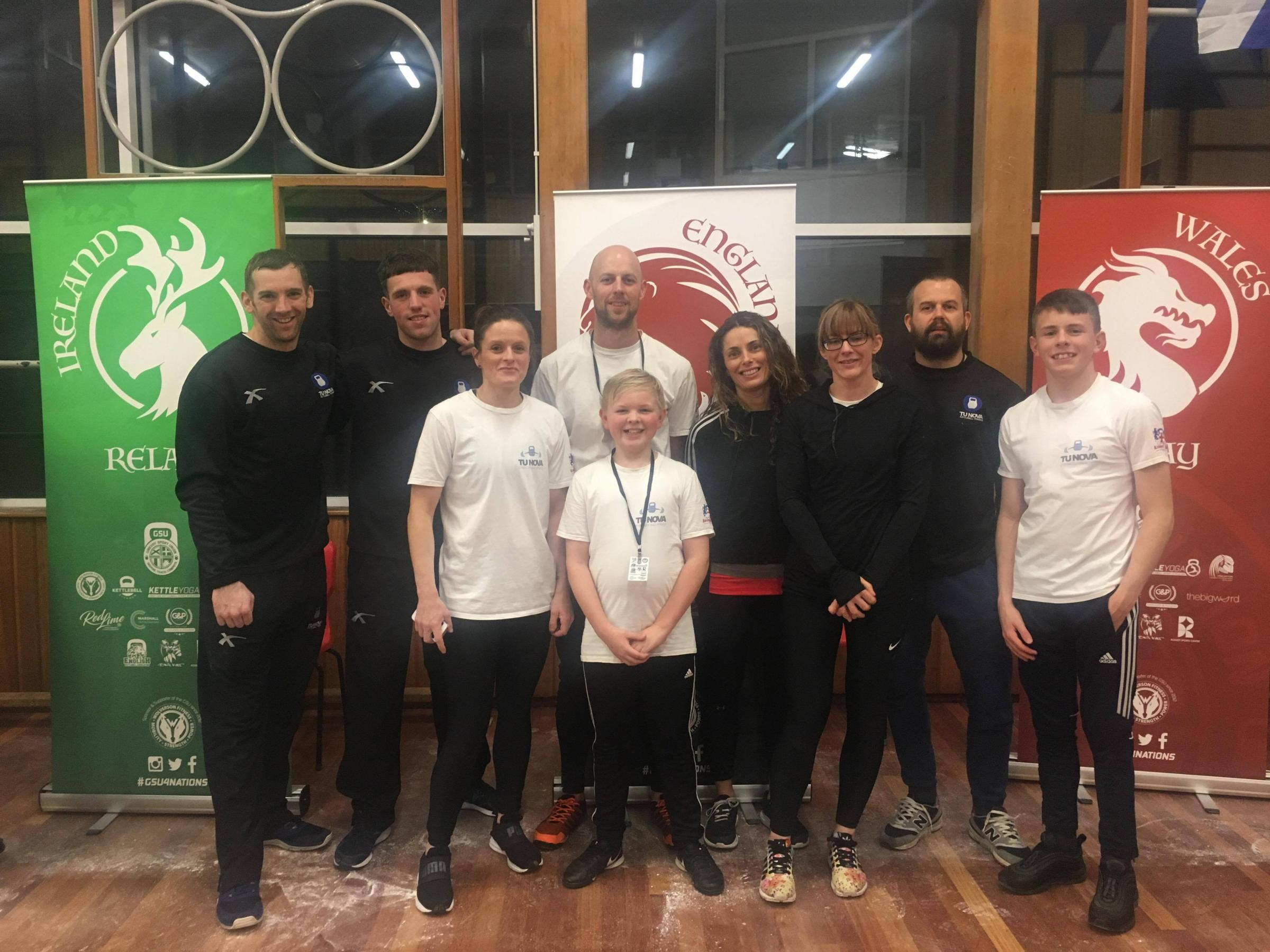 SPORTING SUCCESS: Members of the TU NOVA Strength and Fitness kettlebell team
