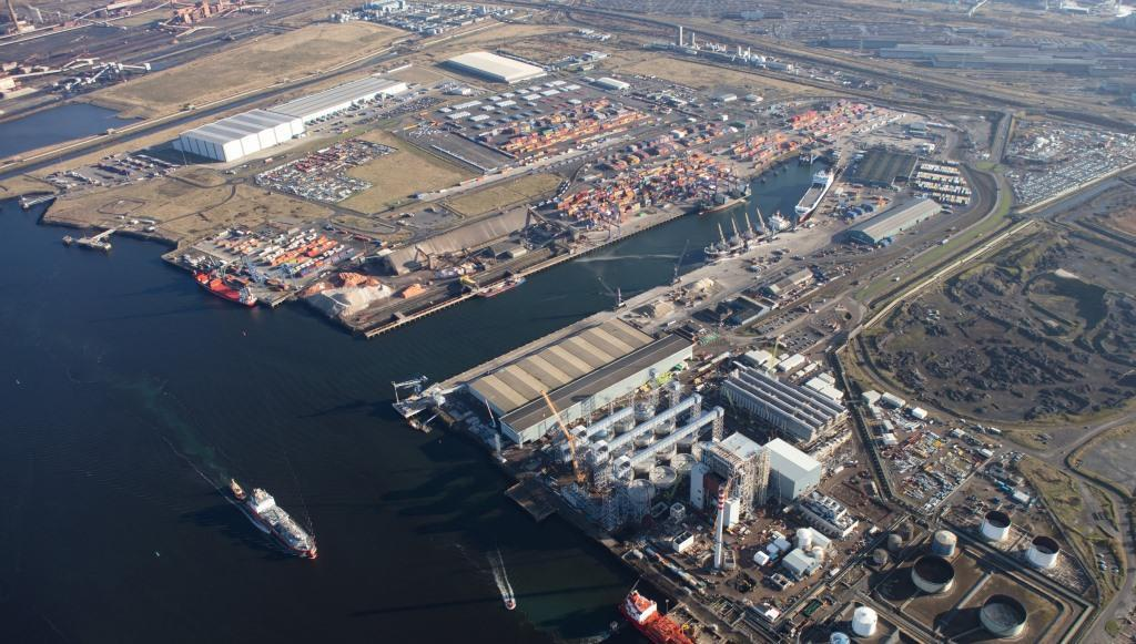 Teesport from the air