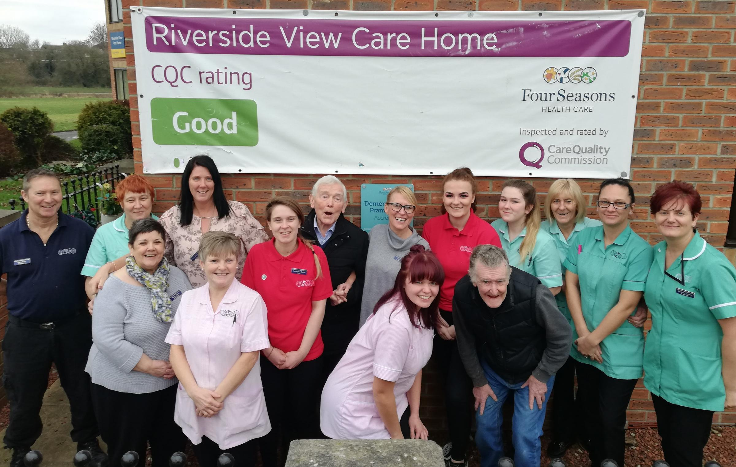 FULL OF PRAISE: Staff at Riverside View in Darlington