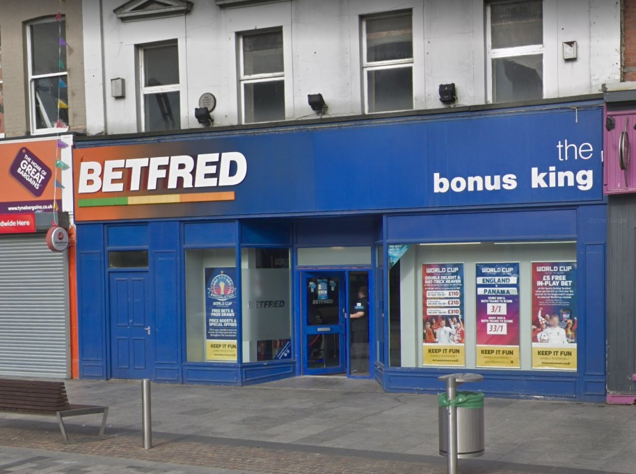 ATTEMPTED ROBBERY: Betfred, High Street, Stockton Picture: GOOGLE