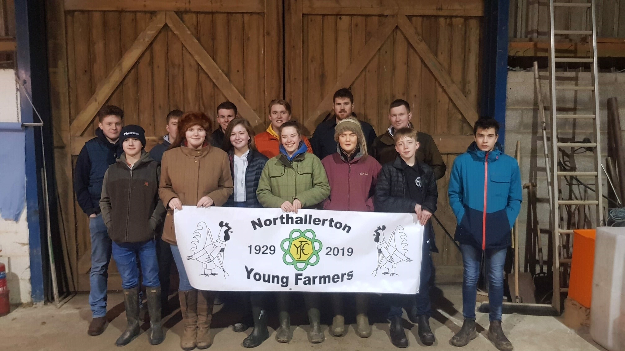 Members of Northallerton Young Farmers' Club