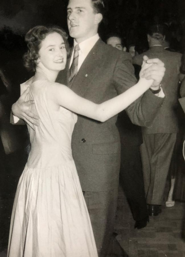 Mum and Dad dancing at the Royal Albert Hall on 23rd March 1957, which marked one year of courtship. They became a couple after my Dad had sent my mum a Valentine's card in 1956