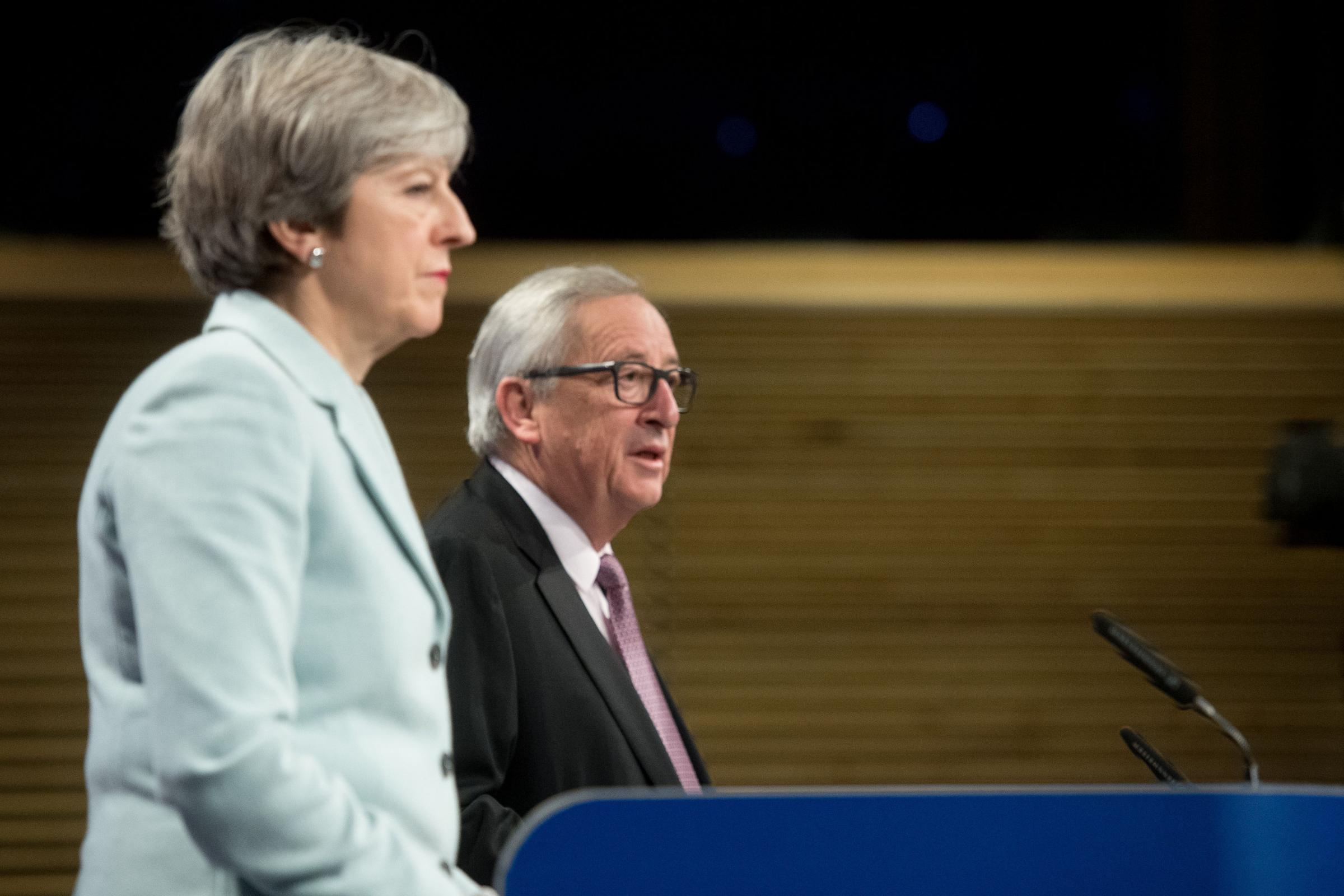Theresa May is meeting European Commission president Jean-Claude Juncker