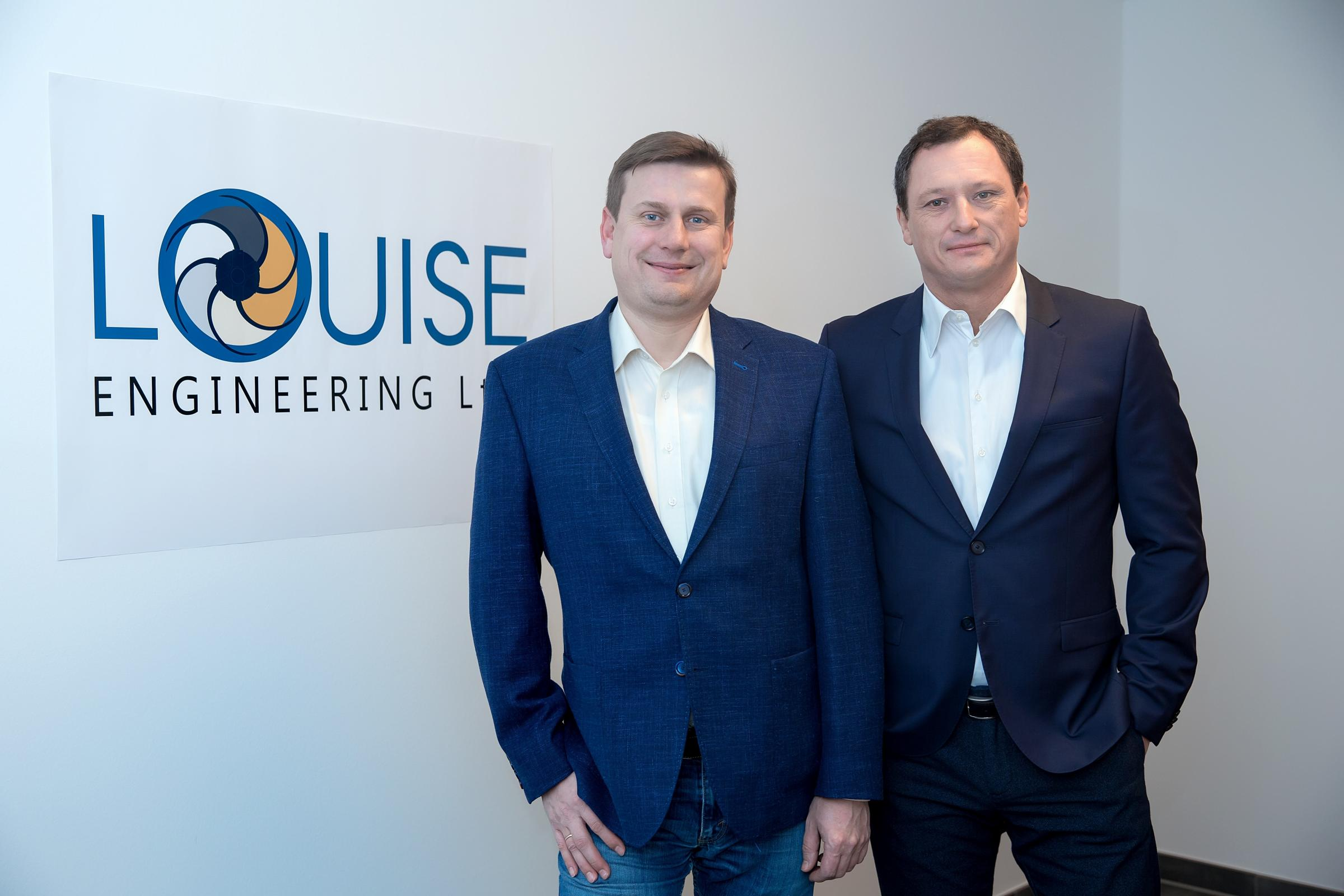 New owners of Louise Engineering, Middlesbrough, from left, Mykola Popovych and Peter Gasch