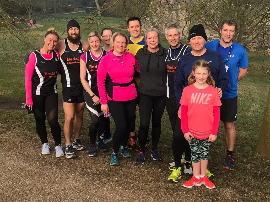 Members of the Bedale and Aiskew Runners 10K coaching programme at the Fountains Abbey Parkrun