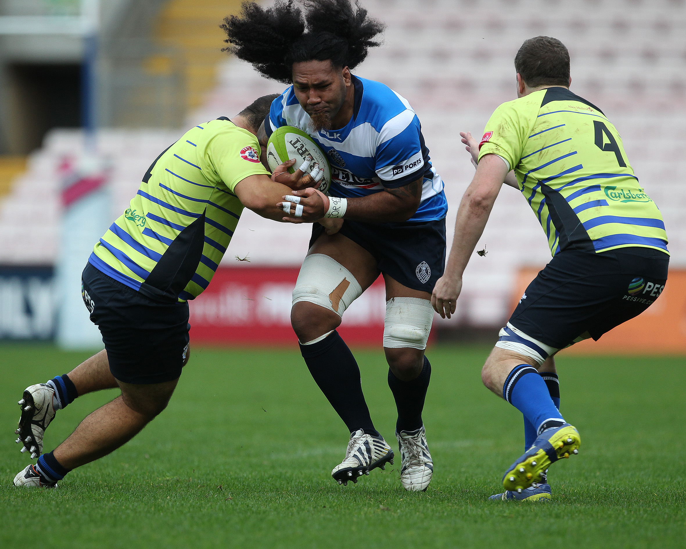 Action from Darlington Mowden Park. Picture: Mark Fletcher | Shutter Press