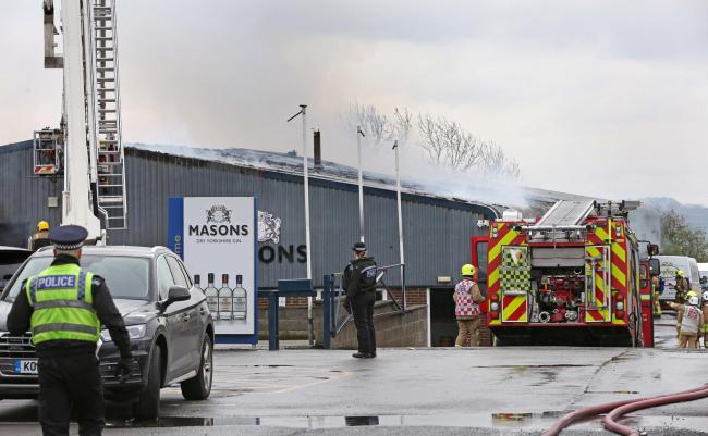 The scene of the fire at Masons Gin, Aiskew, Bedale Picture: RICHARD DOUGHTY