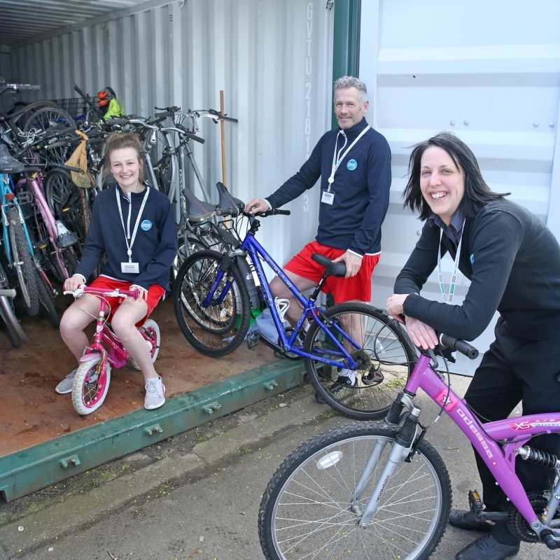 BIYCLE DONATIONS: Dozens of bikes were donated to people who need them the most