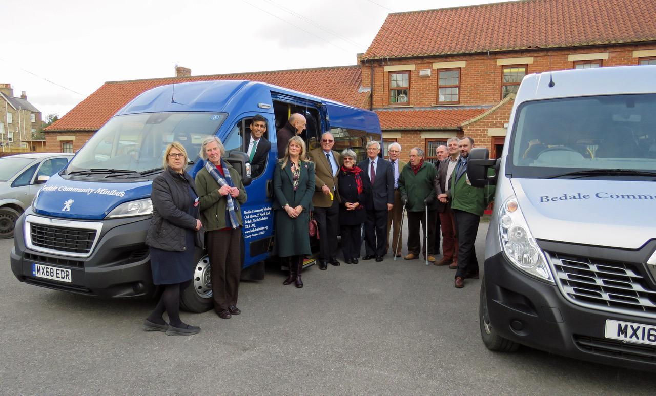 MINIBUS: Bedale volunteers have taken delivery of a new bus