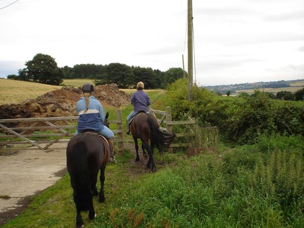 Members of Saltburn & District Bridleways Group on a ride