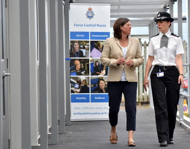 Temporary Chief Constable Lisa Winward and North Yorkshire Police and Crime Commissioner Julia Mulligan at the opening of the new Force Control Room building at Fulford Road Picture Frank Dwyer.