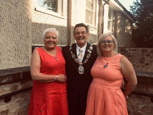 From left, Richmondshire District Council's deputy leader Cllr Helen Grant, chairman Cllr Stuart Parsons, and leader Cllr Angie Dale