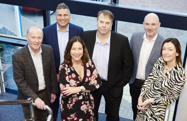 Scaleup partners, L-R: Andrew Esson, Tony Brooks, Angelina Bell, Jon Symonds, Craig Huntingdon, Laura Foster