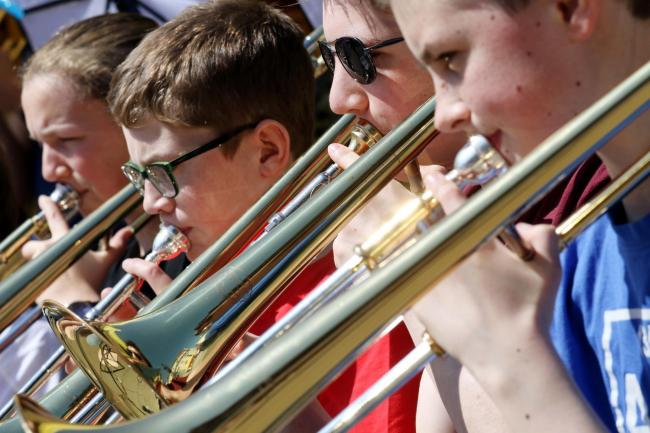 Durham County Youth Big Band, who will be playing on the day    Picture: PAUL NORRIS